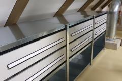 magazijn balie met brede lades
